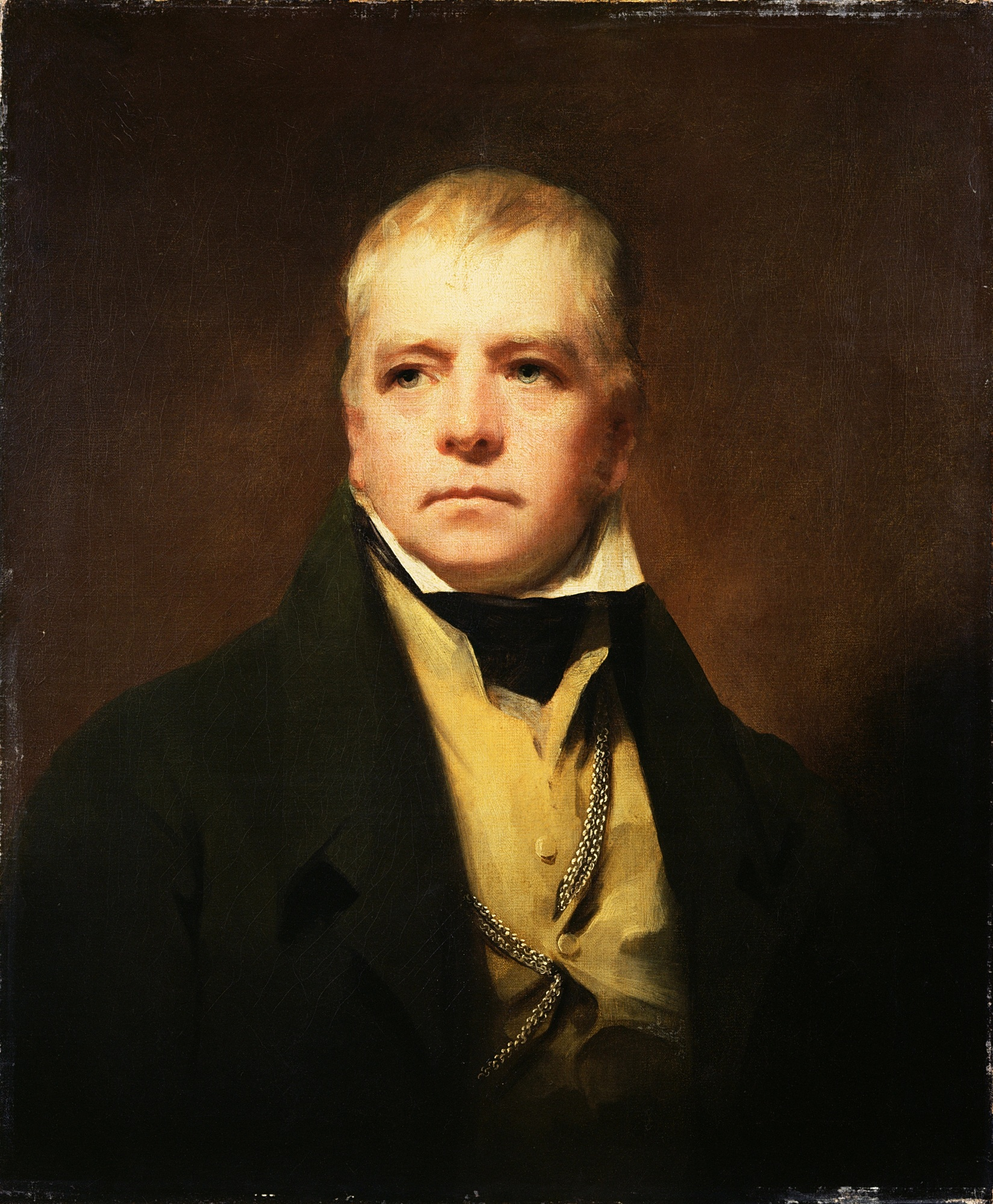 [[Henry Raeburn|Raeburn]]'s portrait of Sir Walter Scott in 1822