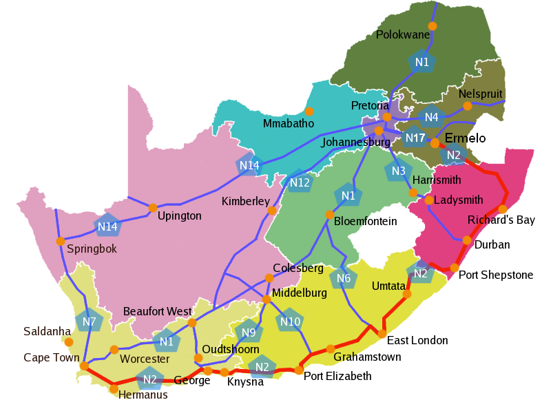 File:South Africa roads N2.png   Wikimedia Commons