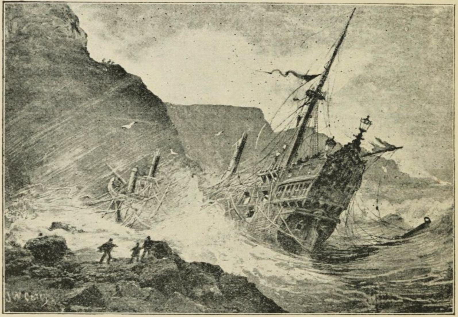 File:Spanish Galleon shipwreck at Port-Na Spaniagh 1588.jpg ...