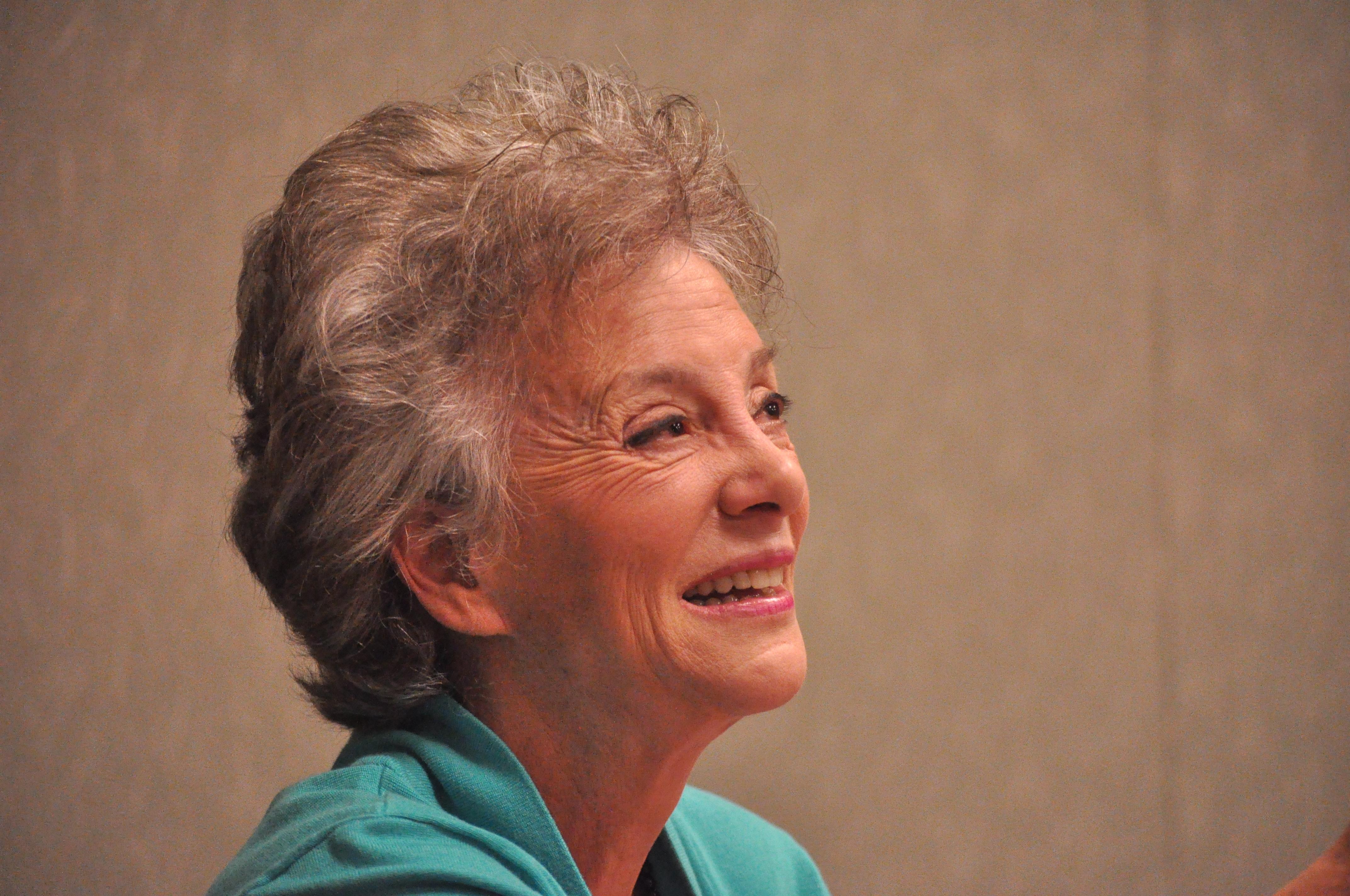 Stephanie Coontz, speaking at the University of Washington (2012).