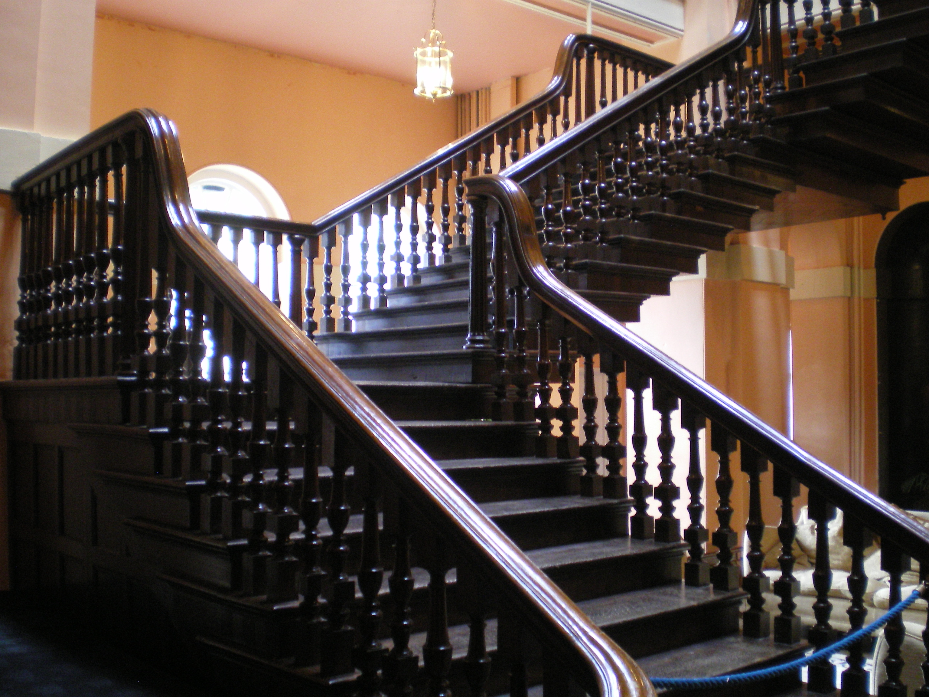 File:Suspended Staircase At Kings Weston House.JPG