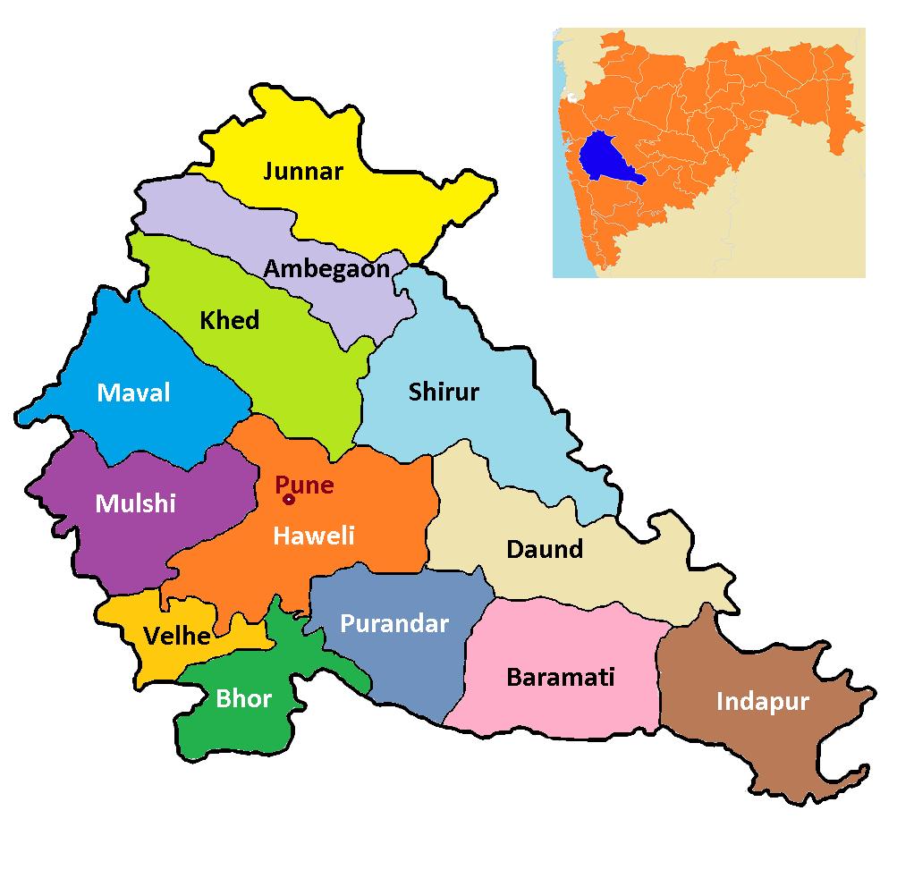 Pune In India Map
