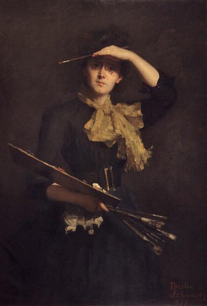 Schwartze, Self-portrait, 1888. via Wikimedia Commons