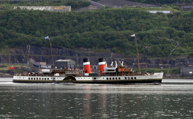 The Waverley passing Coulport Loch Long - geograph.org.uk - 718986