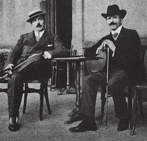Français : Puccini et Toscanini vers 1900.
