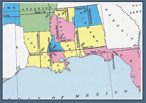FileUSBLM Meridian Map Louisiana Mississippi Alabamajpg - Alabama in us map