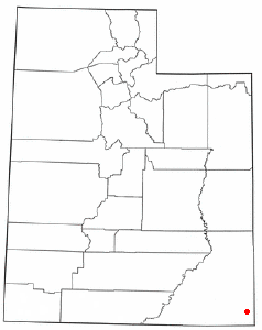 Location of Aneth, Utah