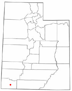 Location of Leeds, Utah