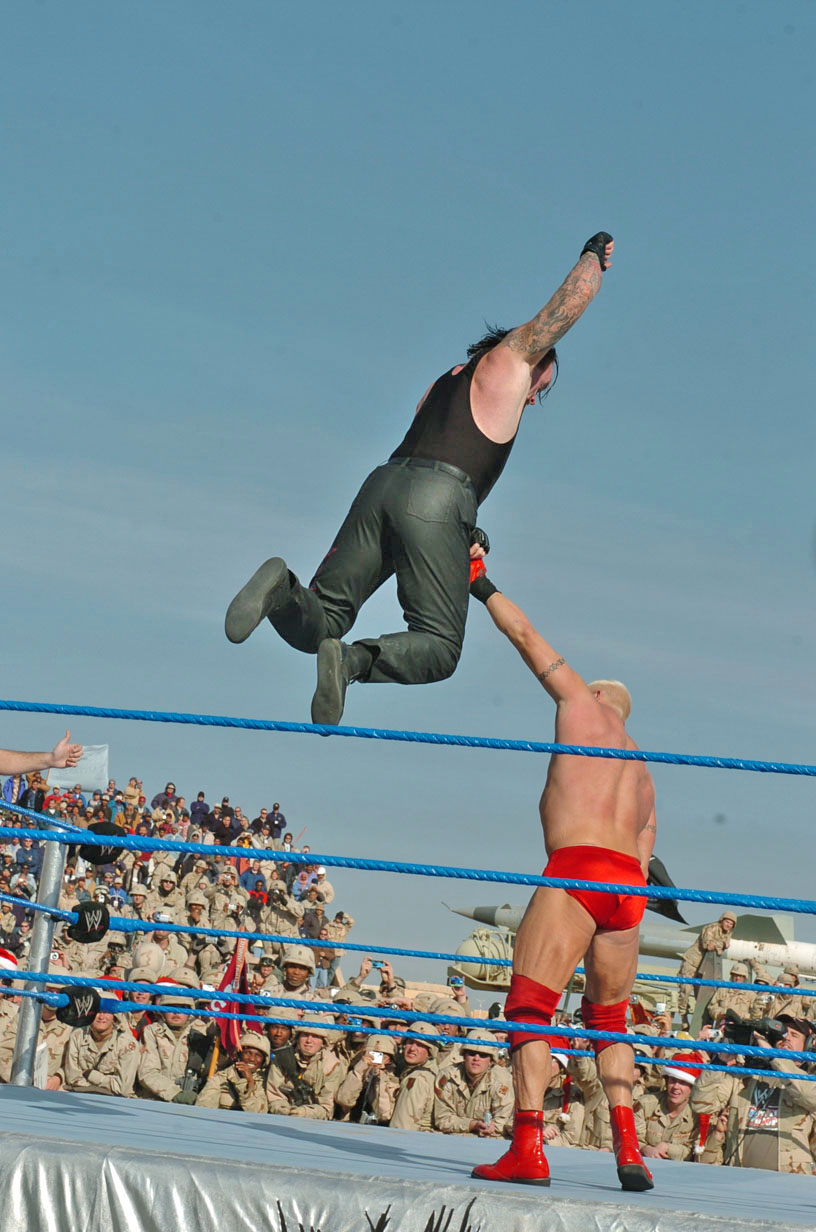 Wwe The Undertaker 1990s The undertaker jumping down