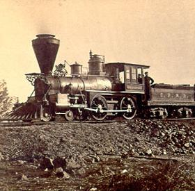 The Gov. Stanford, a 4-4-0 (using Whyte notation) locomotive typical of 19th-century American practice Uploco.jpg