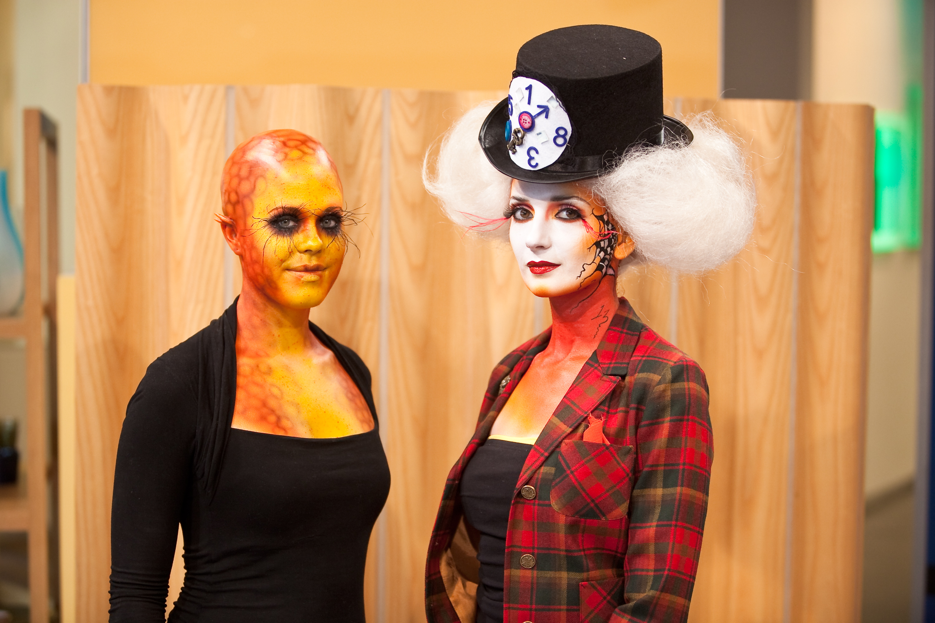 file:vfs makeup design students display halloween makeup on urban