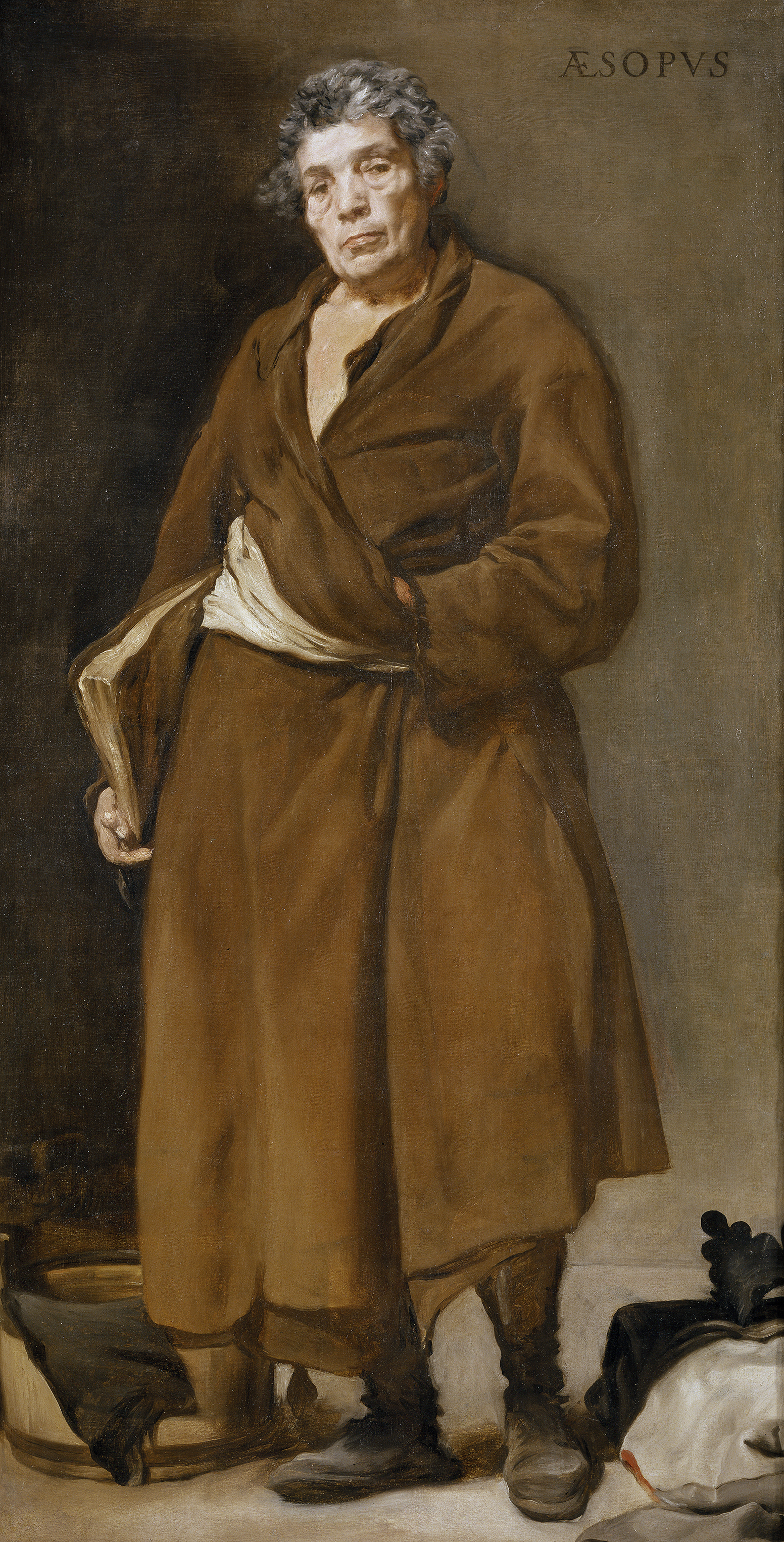 Portrait of Aesop by Velázquez in the Prado. Public Domain. Velázquez - Esopo (Museo del Prado, 1639-41).jpg