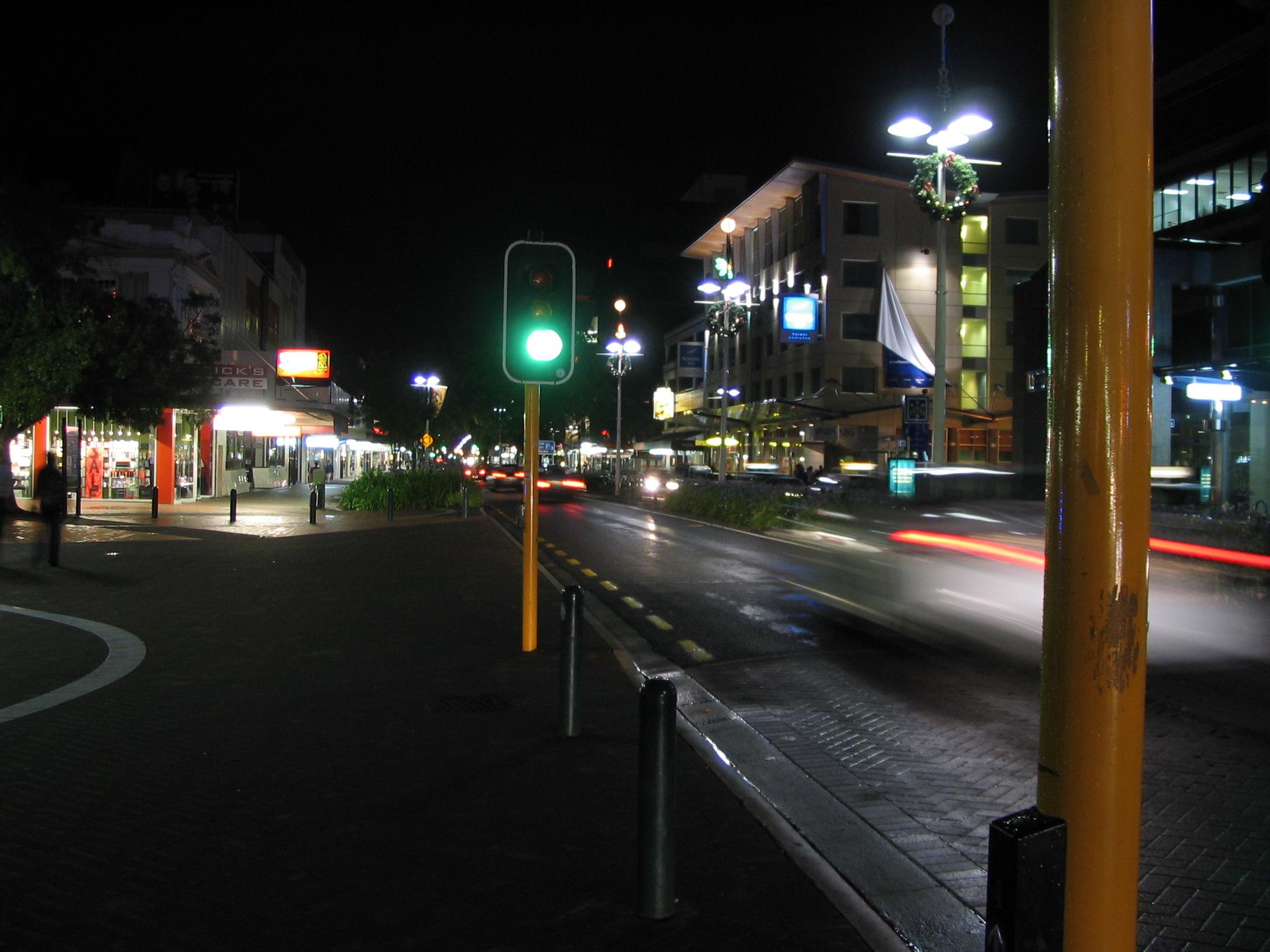 Alfa img showing gt street night time