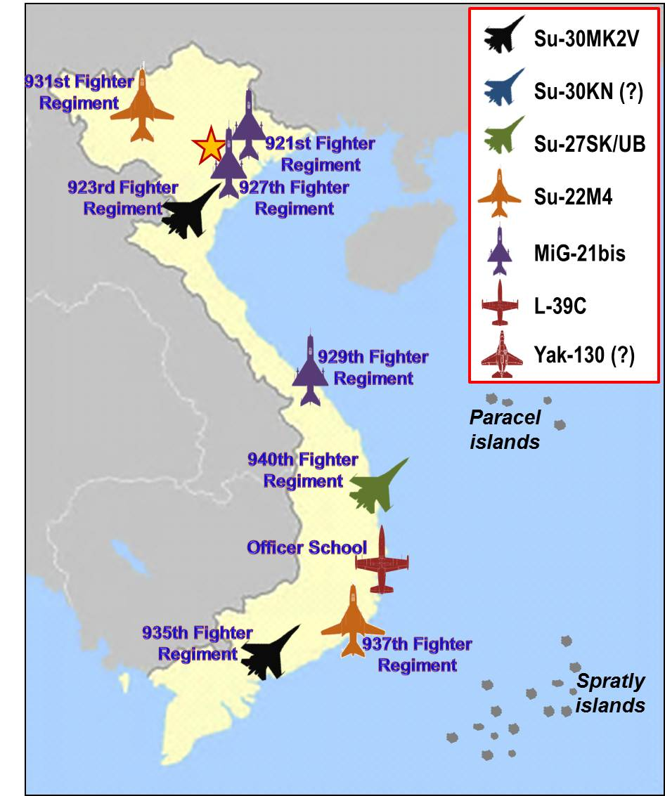 FileVietnam Air Force Regiments Mapjpg Wikimedia Commons - Map of us military bases in vietnam