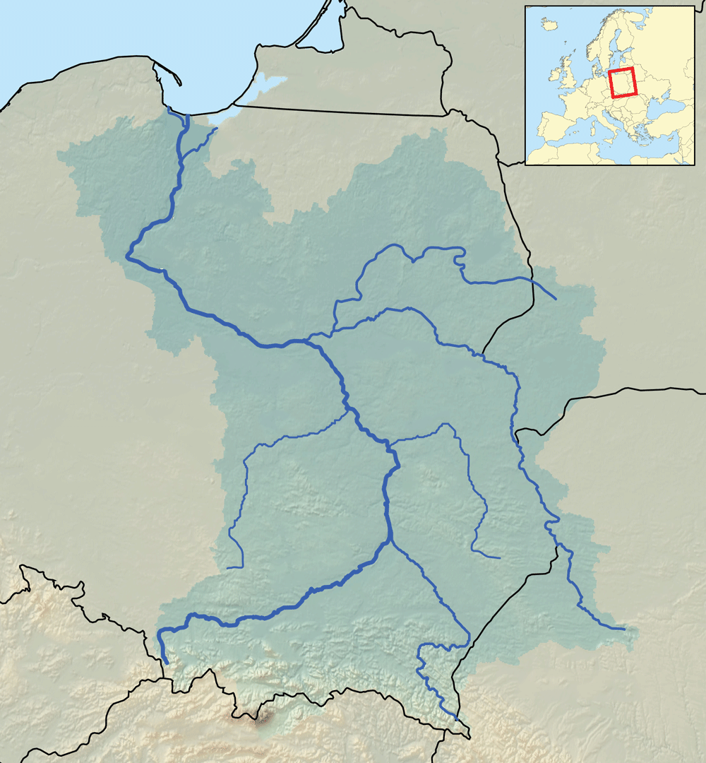 Vistula River Europe Map