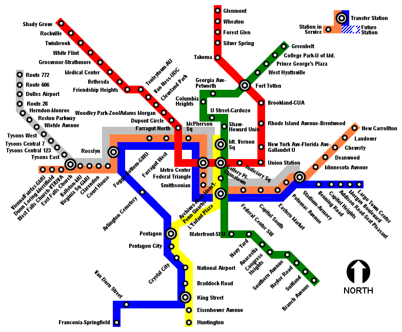 Washington Metro Subway Map.Light Rail Rapid Transit Commuter Rail Skyscrapercity