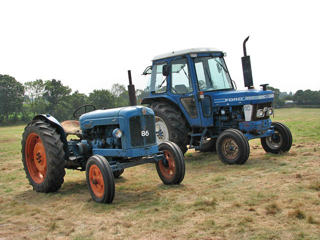 file worstead festival 2008 two blue tractors geograph org uk