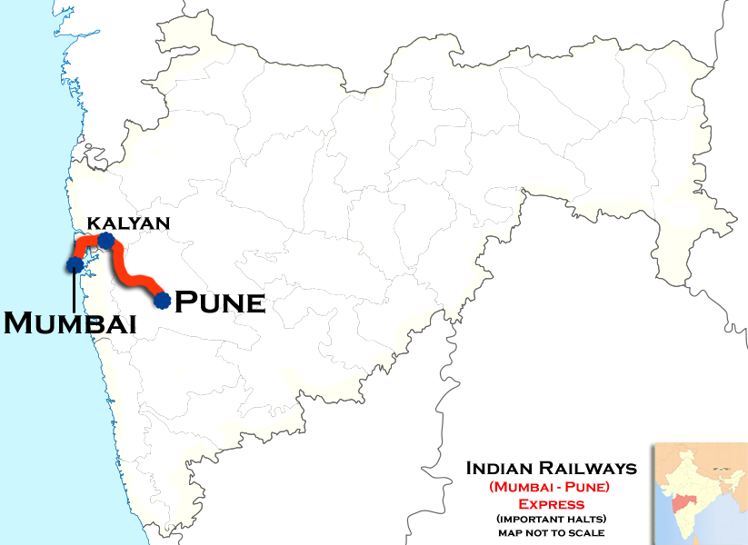 pune to mumbai road map Deccan Express Wikipedia pune to mumbai road map