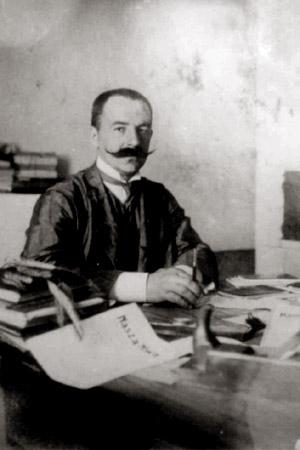 Аляксандр Мікітавіч Уласаў у рэдакцыі. Раней 1912 г.
