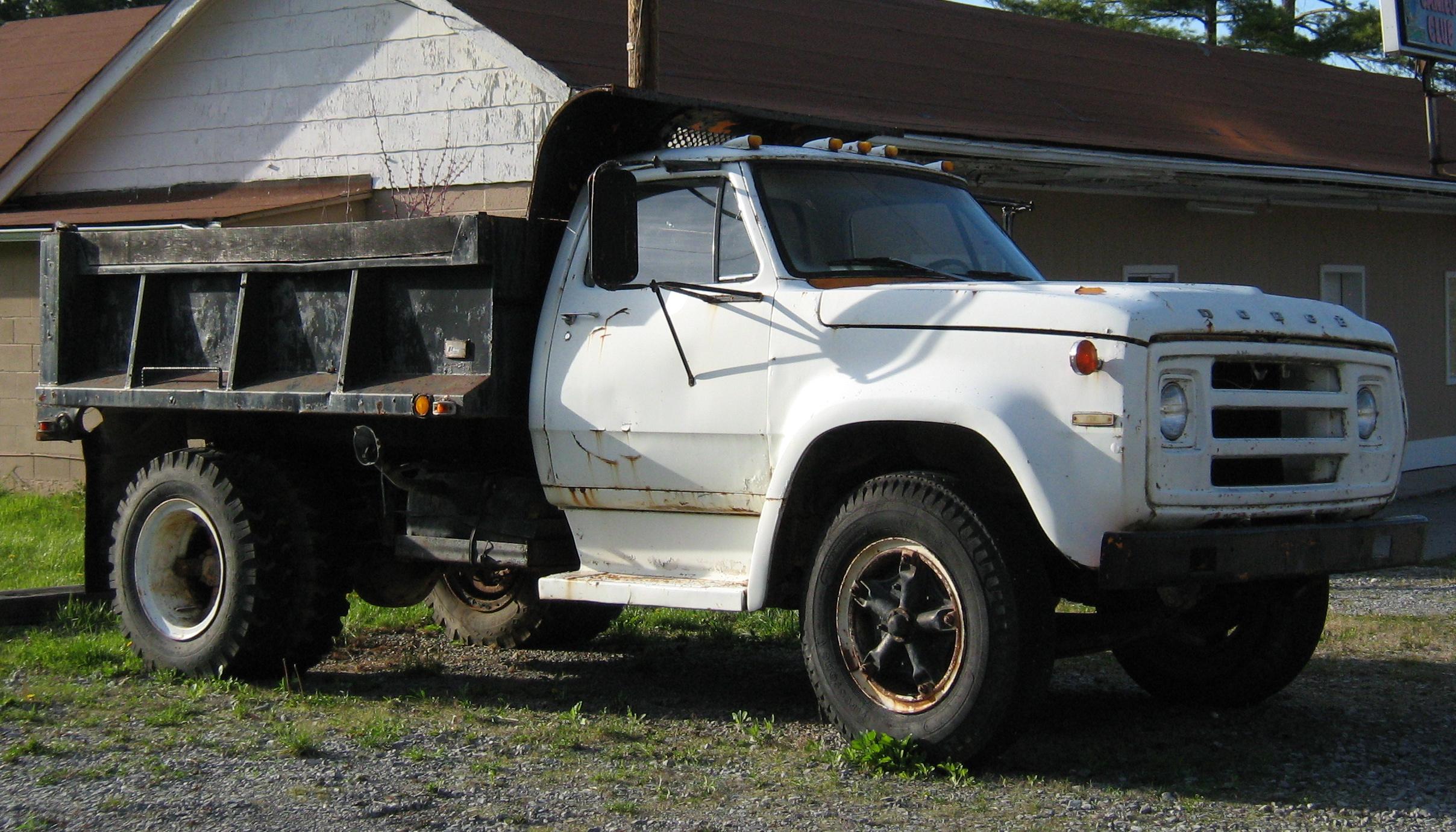 File 1974 Dodge D Series Dump Truck White Wv1 Jpg