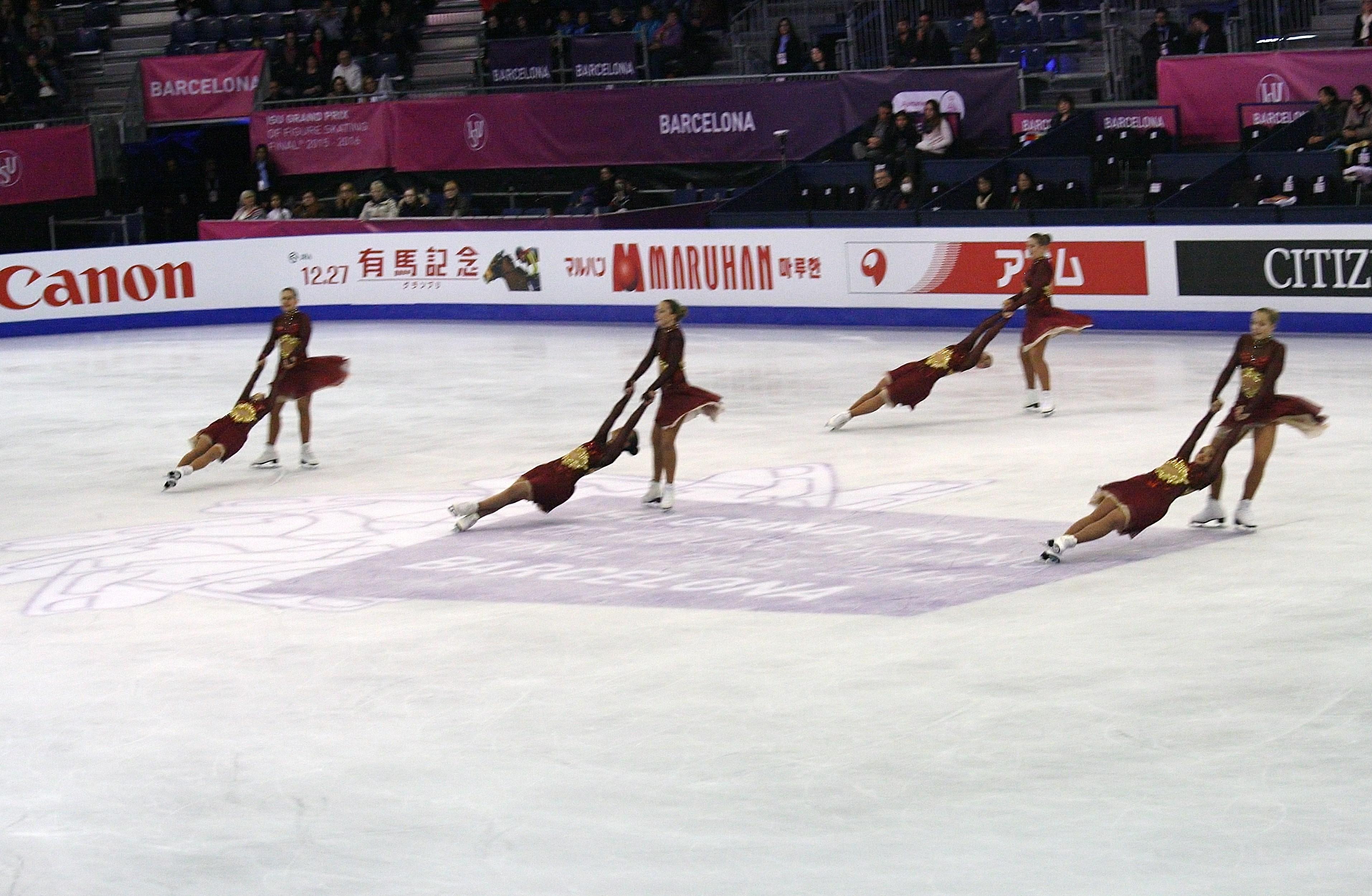 skills in synchronized skating