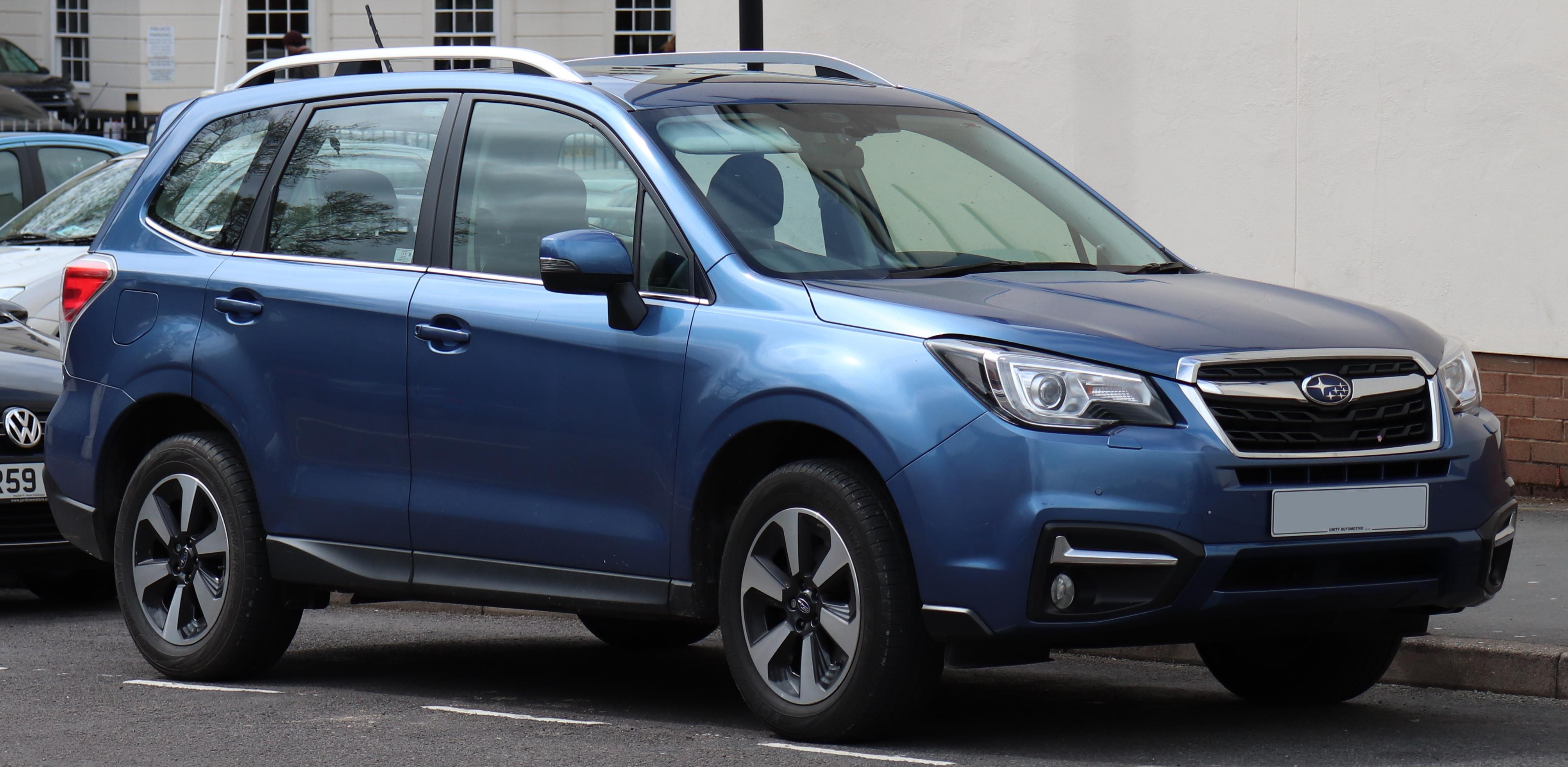 Blue Subaru Forester