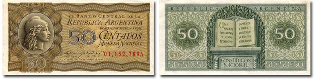 Moneda de Diez Centavos 50 Centavos Moneda
