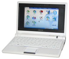 Netbooks such as the Asus Eee PC accommodate low-cost information sharing and communication