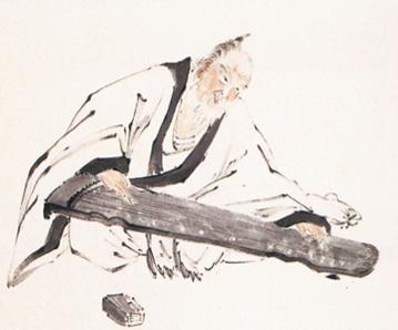 A portrait of Urakami Gyokudo 琴士玉堂肖像
