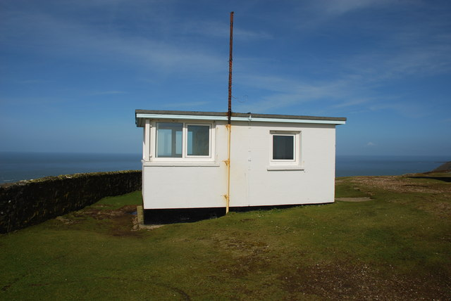 Coastguard lookout on Mynydd Mawr Overlooking the end of the peninsula and Ynys Enlli/Bardsey, the building is now disused.
