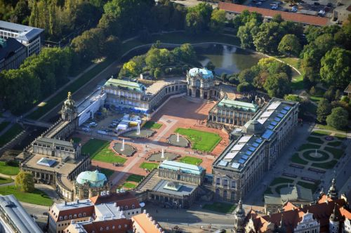 Aerial view of the Zwinger, Dresden