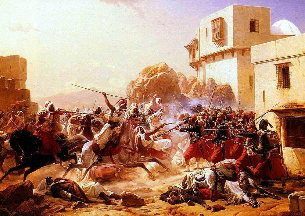 File Algerie Peintre Danois Niels Simonsen 1807 1885 Huile Sur Toile Titre Le Dernier Combat Bataille De Laghouat 1852 Jpg Wikimedia Commons