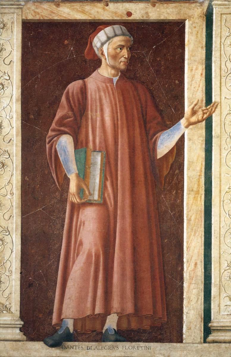 Andrea Del Castagno Dante Portrait File:andrea Del Castagno