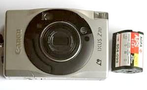 kleine APS-Kamera mit Film