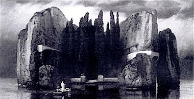 Arnold Böcklin - Die Toteninsel - Version 4 sw.jpg