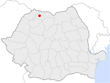 Location of Baia Sprie