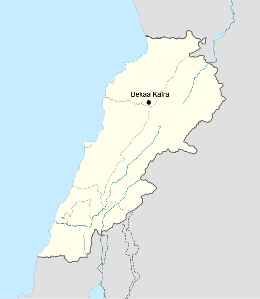 File:Bekaa kafra location in lebanon.jpg - Wikimedia Commons