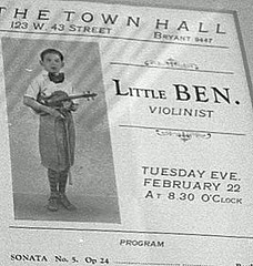 "Playbill for Steinberg's recital as ""Little Ben"", age 11 Benjamin Steinberg at 11.jpg"