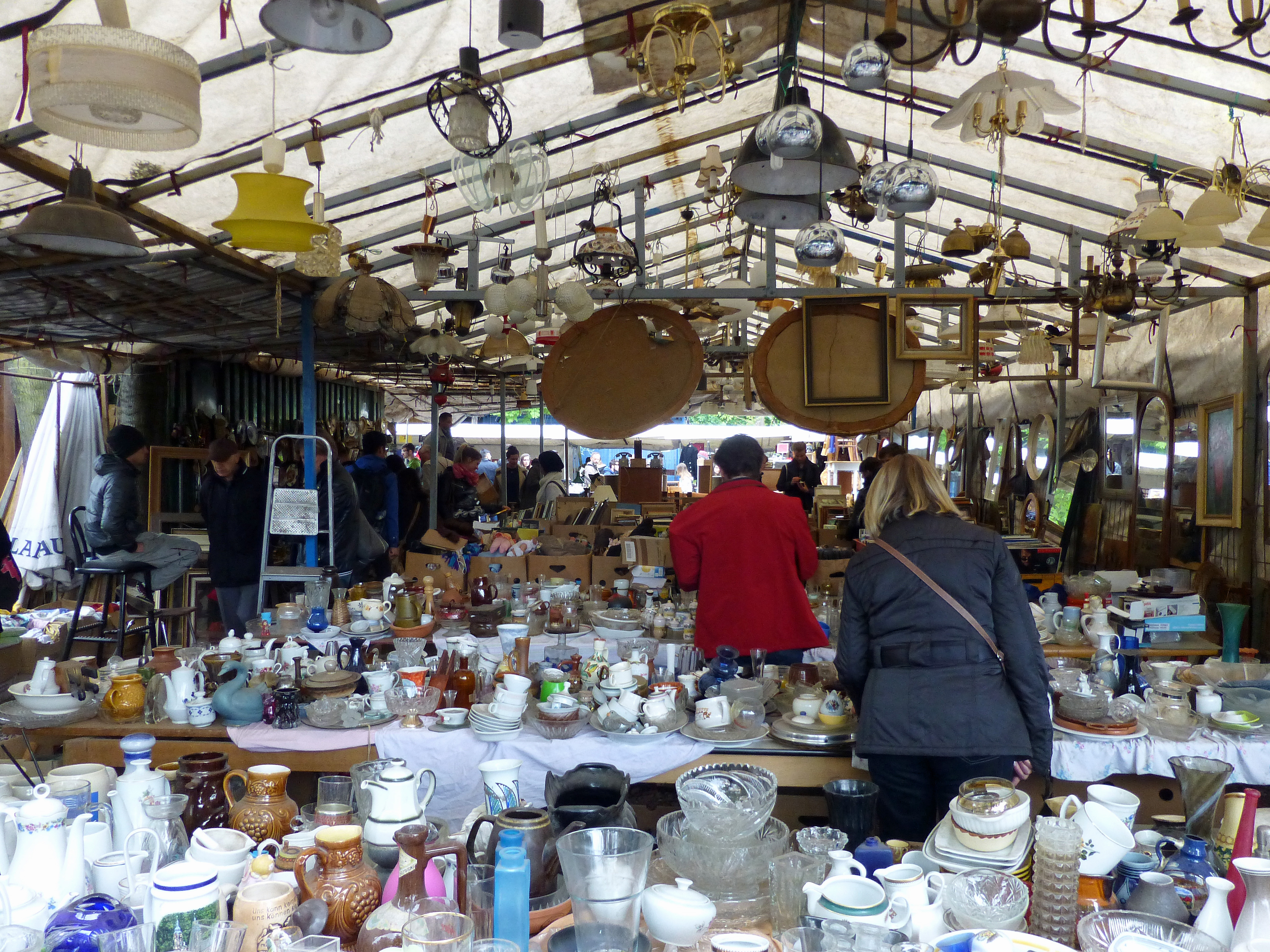 Mauerpark Flea Market, one of the places to go to experience Berlin's best markets.