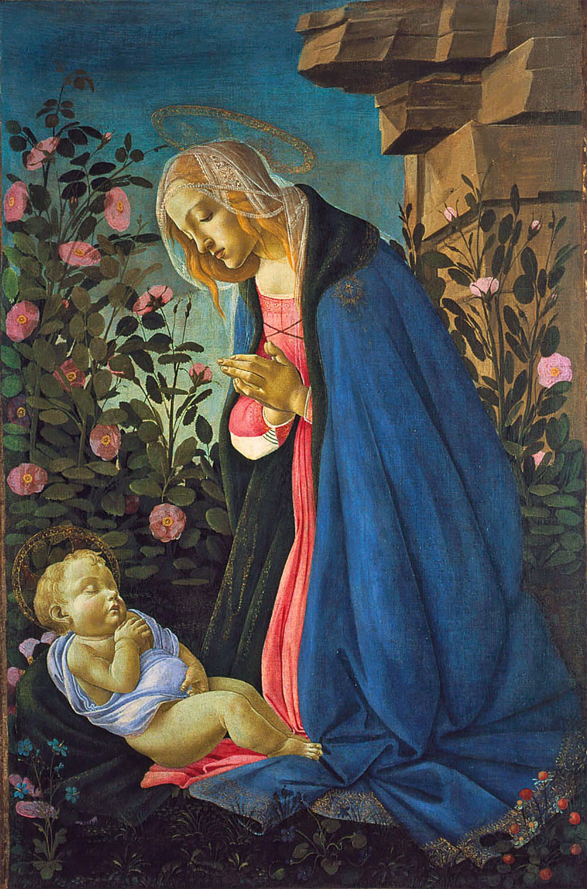 Sandro Botticelli, The Virgin Adoring the Sleeping Christ Child, c. 1485, National Galleries of Scotland, Edinburgh, Scotland, UK