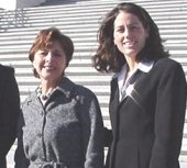 Foudy with Senator Barbara Boxer in 2001 Boxer Meets with Julie Foudy February 07, 2001.jpg