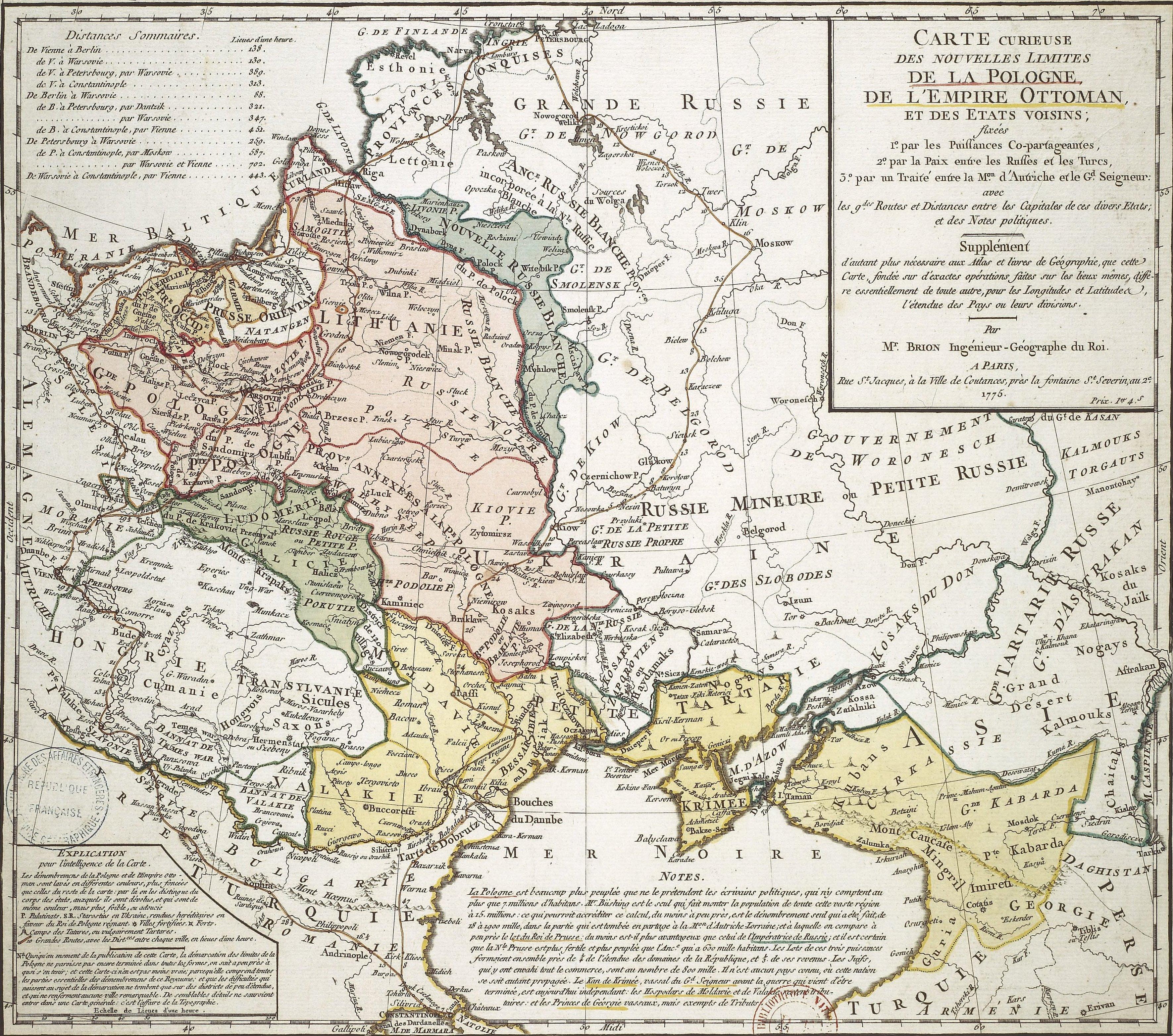 File brion de la tour carte de l 39 empire ottoman par la paix entre les russes et les turcs par - La carte de l empire ottoman ...