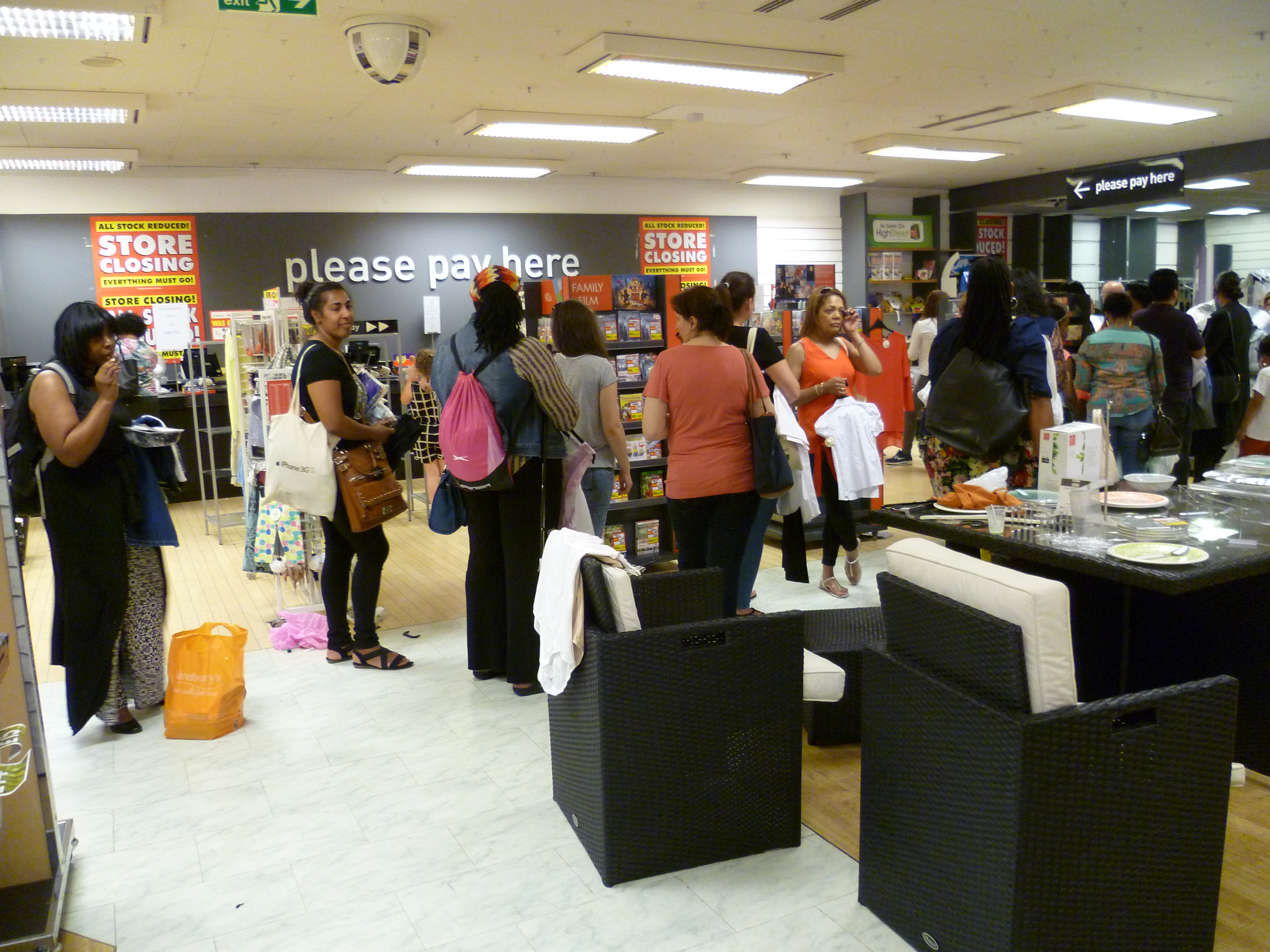 File british home stores closing down sale wood green for British house store