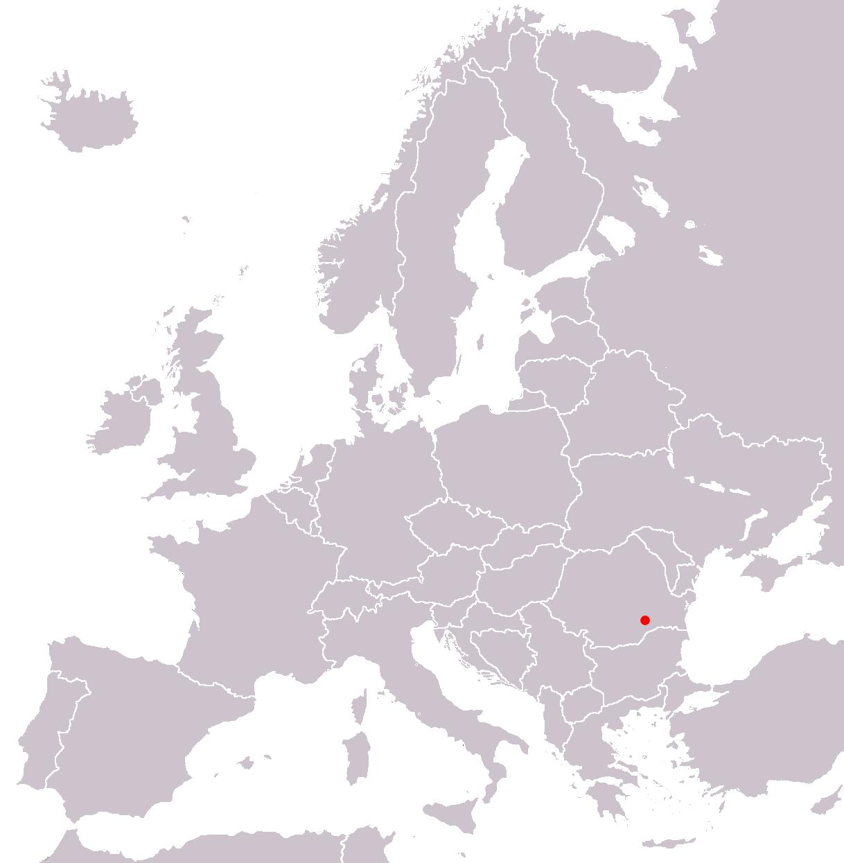 Bucharest locator map