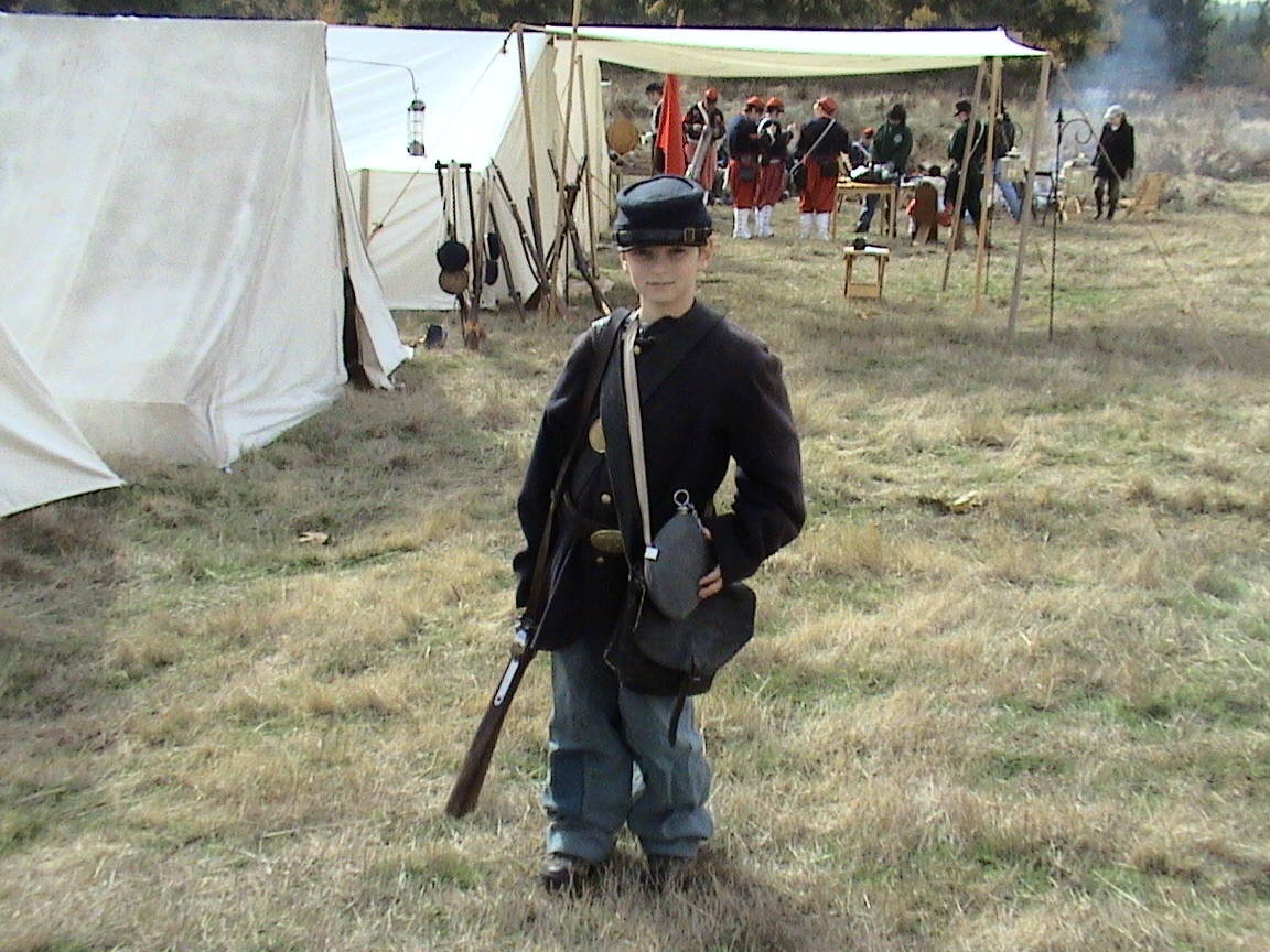 Young Civil War Reenactor, photo by D. Farr