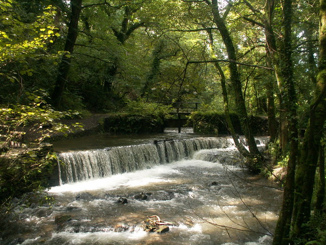 Cothele Mill Weir - geograph.org.uk - 926128