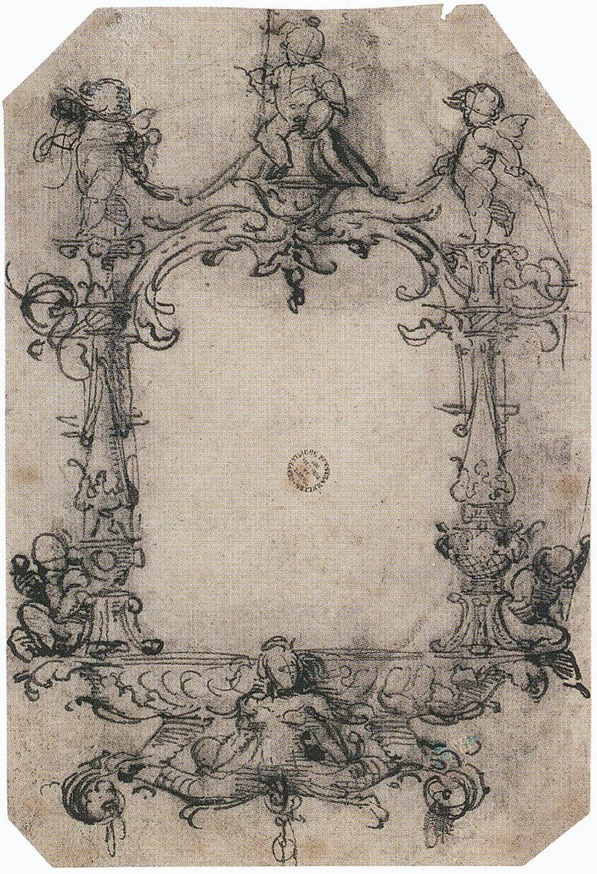 File design for a frame by hans holbein the for Design a frame