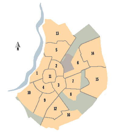 Distritos de la ciudad
