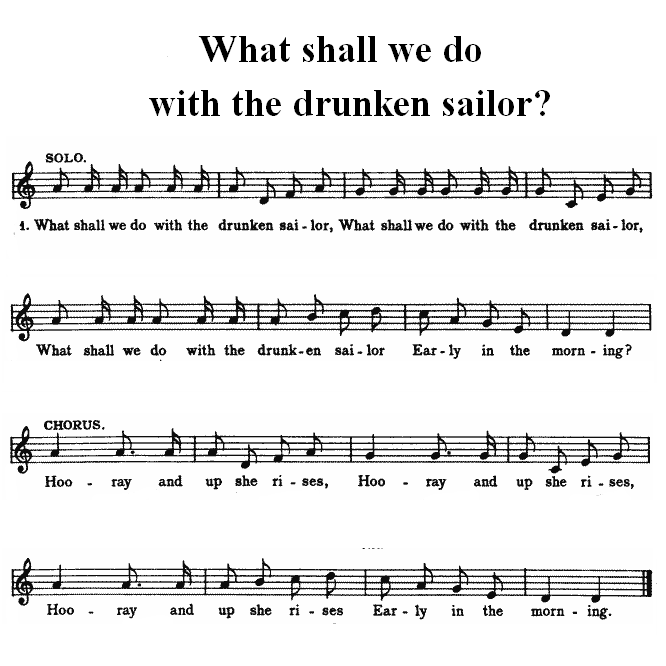 Songbookwhat Shall We Do With The Drunken Sailor Wikibooks Open