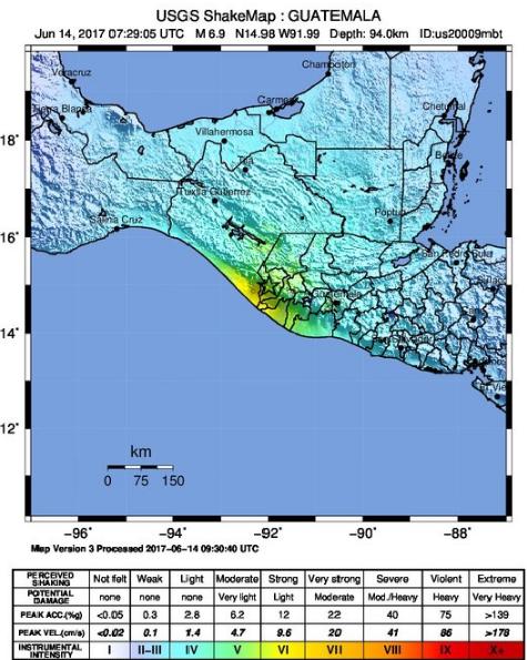 Terremoto De Guatemala De 2017 Wikipedia La Enciclopedia Libre